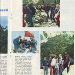 "1977 ""Pionieri"" Magazine about the climbing of Mount Jezerca"